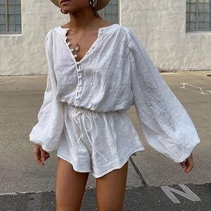 Sabo Skirt Elsa Playsuit WHITE